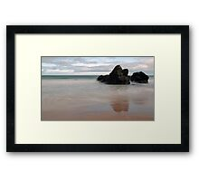 Black Rocks of Sango Bay Framed Print