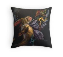 Moth and Flame Throw Pillow