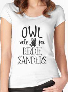 Owl Vote for Birdie Sanders Women's Fitted Scoop T-Shirt