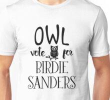 Owl Vote for Birdie Sanders Unisex T-Shirt