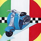 Scooter on italian flag by Andy  Housham