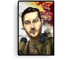 Mad Max Portrait Canvas Print