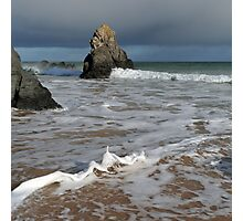 Sango Bay Waves and Sea Stack Photographic Print