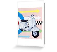 Scooter with Mod Target Greeting Card