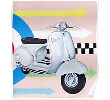 Scooter with Mod Target Poster