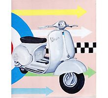 Scooter with Mod Target Photographic Print