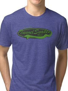 Baseball Team Tunnel Snakes Rule Tri-blend T-Shirt