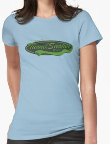 Baseball Team Tunnel Snakes Rule Womens Fitted T-Shirt