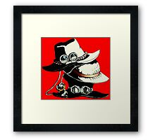 ONE PIECE - LUFFY, ACE, SABO'S HAT Framed Print