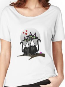 Cats in Love, vector illustration Women's Relaxed Fit T-Shirt