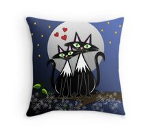 Cats in Love, vector illustration Throw Pillow