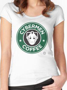 Cybermen Coffee Women's Fitted Scoop T-Shirt