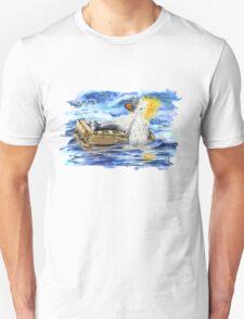 A Fluffy Bird Lost at Sea Unisex T-Shirt