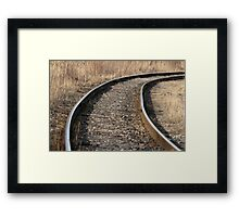 Railway turn autumn Framed Print
