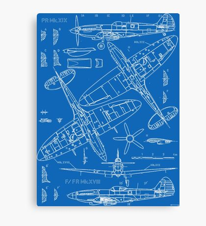Spitfire Concept Blueprints Canvas Print