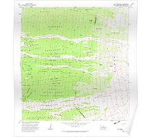 USGS TOPO Map Hawaii HI Puu Pohakuloa 349723 1982 24000 Poster