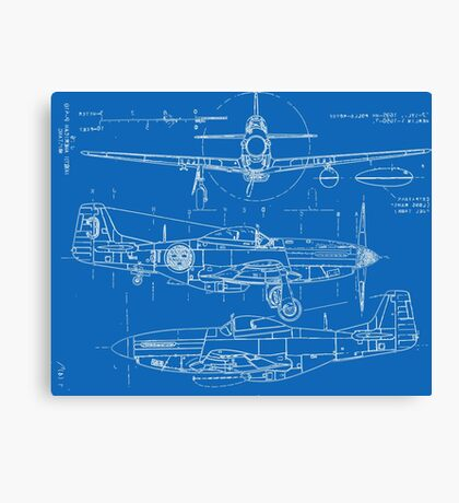 P-51 Concept Blueprints Canvas Print