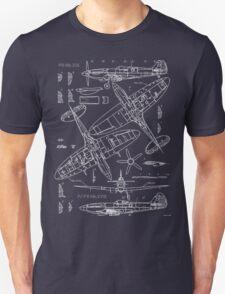 Spitfire Concept Blueprints Unisex T-Shirt