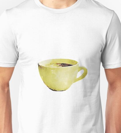Coffee Cup in Watercolor Unisex T-Shirt