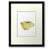 Coffee Cup in Watercolor Framed Print