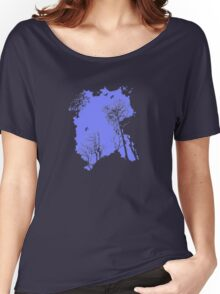 Forest Silhouette in Sky Blue Women's Relaxed Fit T-Shirt
