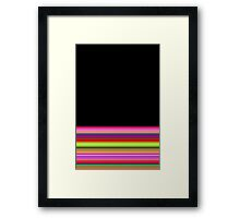 Cotton Candy and Caramel - Black Framed Print