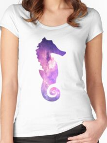 Galaxy Seahorse Women's Fitted Scoop T-Shirt