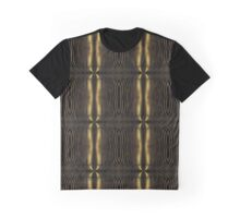 Intricate Cascading Streaks of Gold on Brown Black Pattern Graphic T-Shirt