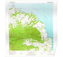 USGS TOPO Map Hawaii HI Anahola 349215 1963 24000 Poster