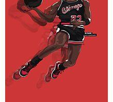 "Jumpman ""23"" Black Photographic Print"
