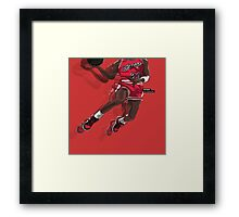 "Jumpman ""23"" Red Framed Print"