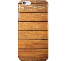 Wood old wall background iPhone Case/Skin