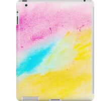 Colorful abstract water color textured background iPad Case/Skin
