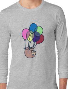 Sloth Floating Away Long Sleeve T-Shirt