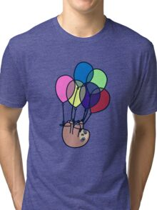 Sloth Floating Away Tri-blend T-Shirt