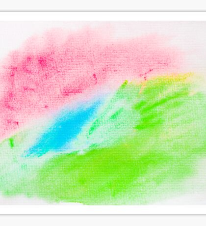 Colorful abstract water color textured background Sticker