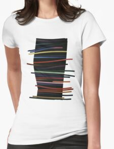 Ribbon Float Womens Fitted T-Shirt