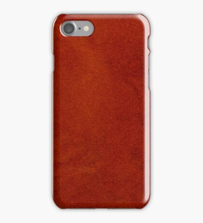 Red leather  iPhone Case/Skin