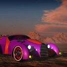 Grobo Car in a Desert Setting by kenmo