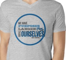 Purposes Larger Than Ourselves Mens V-Neck T-Shirt