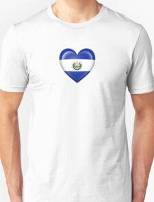 El Salvador Heart Flag Unisex T-Shirt