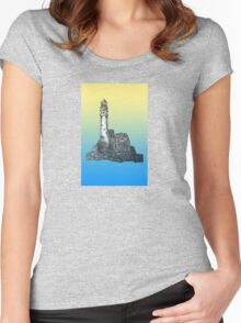 Fastnet Rock Lighthouse Women's Fitted Scoop T-Shirt