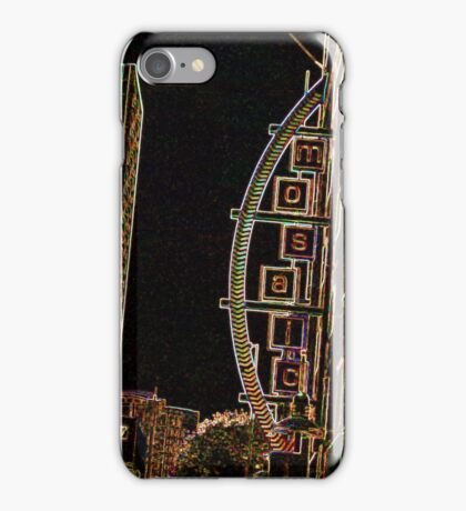 ENHANCED CITY SIGN PHOTO iPhone Case/Skin