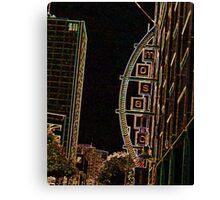 ENHANCED CITY SIGN PHOTO Canvas Print