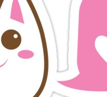 Cute little Kawaii CAT talking love heart Sticker