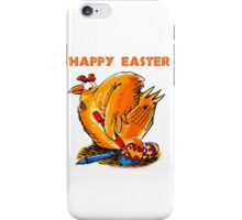 happy easter caricature chicken paint own eggs iPhone Case/Skin
