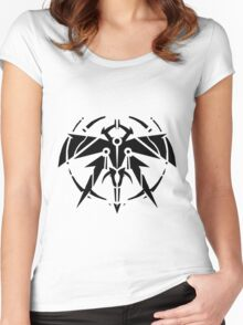 Rank-Up-Magic Raid force Black Edition Women's Fitted Scoop T-Shirt