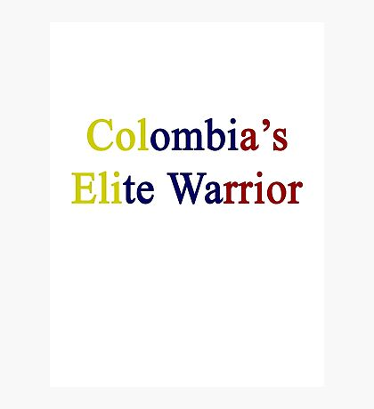 Colombia's Elite Warrior  Photographic Print