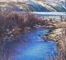 Winter's Edge, Flat Creek, Jackson by louisegreen