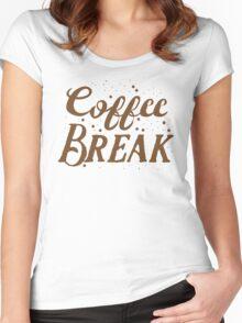 Coffee BREAK Women's Fitted Scoop T-Shirt